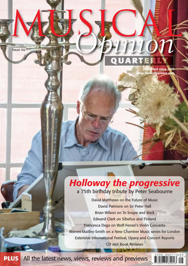 Holloway the Progressive - article in Musical Opinion Quarterly